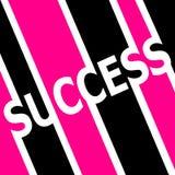 Het roze en zwarte symbool van het Succes Stock Fotografie