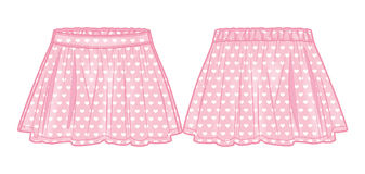 Het roze flakkerde rok Royalty-vrije Stock Afbeeldingen