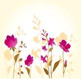 Het roze flowers_golden royalty-vrije stock foto's