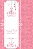 Het roze frame van de kroonluchter Royalty-vrije Stock Foto's