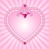Het roze frame van de prinses Stock Afbeelding