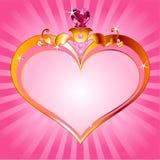 Het roze frame van de Prinses van de liefde Stock Fotografie