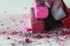 Het roze grijs van het pastelkleurkrijt Royalty-vrije Stock Foto's