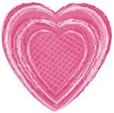 Het roze Hart van de Kunst Vector Illustratie