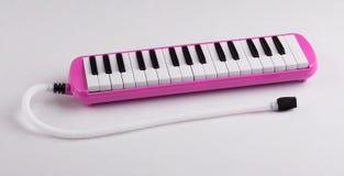 Het roze instrument van de melodeonmuziek stock afbeeldingen