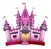 Het roze Kasteel van de Prinses Stock Foto