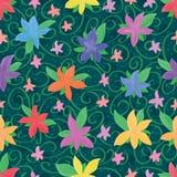 Het roze kleine naadloze patroon van de vijf bloemblaadjewaterverf Stock Afbeeldingen