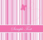Het roze kleurde streepjescodeachtergrond met een vlinder Stock Foto's
