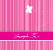Het roze kleurde streepjescodeachtergrond met een vlinder Royalty-vrije Stock Foto's