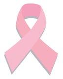 Het roze lint van borstkanker Stock Fotografie