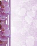 Het roze malplaatje van de Kantoorbehoeften van de Grens van Orchideeën vector illustratie