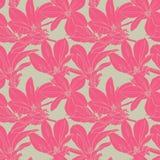 Het roze Naadloze Patroon van Bloemen Royalty-vrije Illustratie