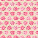 Het roze Naadloze Patroon van de Bloem van Lotus Stock Fotografie