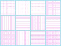 Het roze naadloze patroon van de netlijn royalty-vrije illustratie
