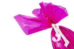 Het roze Paasei van de Chocolade Van hoek royalty-vrije stock afbeeldingen