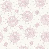 Het roze patroon van de krabbelbloem Stock Foto