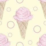 Het roze Patroon van de Roomijskegel Stock Afbeelding
