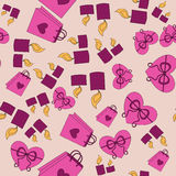 Het roze patroon van Valentine Day met roze achtergrond royalty-vrije illustratie