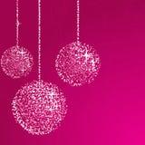 Het roze schittert ballen Stock Foto's