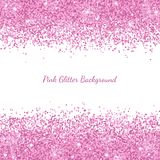 Het roze schittert grensplacer op witte achtergrond Vector Royalty-vrije Stock Fotografie