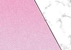 Het roze schittert marmeren achtergrond, schittert de Flikkering textuur, Templa stock fotografie