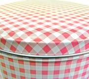 Het roze tin van de gingangcake Stock Foto
