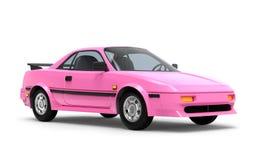 Het roze van auto 1980 cyberpunk vector illustratie