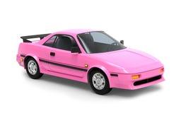 Het roze van auto 1980 cyberpunk stock illustratie