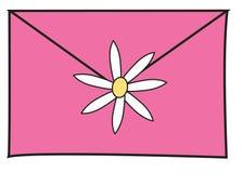 Het roze van de brief Stock Foto