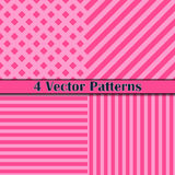Het roze van de patroonlijn Stock Afbeelding