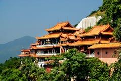 Het roze van de Tempel van Fuqing Royalty-vrije Stock Foto's