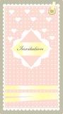 Het roze van de uitnodiging Royalty-vrije Stock Foto