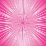 Het roze van de zonnestraal Royalty-vrije Stock Afbeeldingen
