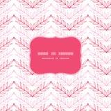 Het roze van het de chevronkader van lineartbladeren naadloze patroon Royalty-vrije Stock Afbeelding