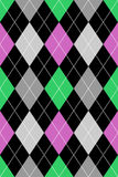 Het Roze van het Patroon van Argyle & Groen Royalty-vrije Stock Afbeeldingen