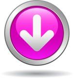 Het roze van het het Webpictogram van de downloadknoop royalty-vrije illustratie