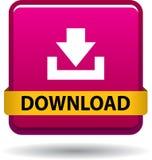 Het roze van het het Webpictogram van de downloadknoop vector illustratie