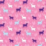 Het roze volks vector naadloze patroon van het de winterrendier royalty-vrije illustratie