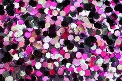 Het roze, Wit, Zwarte schittert Achtergrond Royalty-vrije Stock Afbeeldingen
