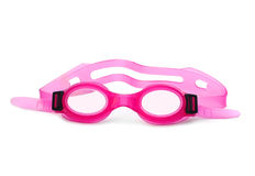 Het roze zwemt Beschermende brillen Royalty-vrije Stock Fotografie