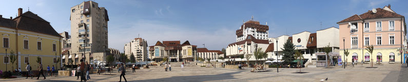 Het Rozenvierkant, Targu Mures, Roemenië Royalty-vrije Stock Foto