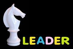Het rubber van de alfabetspons van tekst 'LEADER ' stock foto
