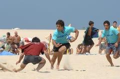 Het rugby van het strand stock foto's