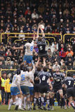 Het Rugby van Naties ERB Zes - Italië versus Schotland Stock Afbeeldingen