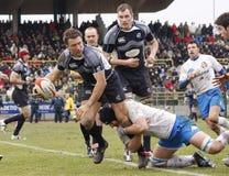 Het Rugby van Naties ERB Zes - Italië versus Schotland Stock Fotografie