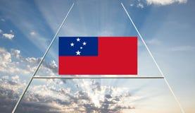 Het rugbylandschap van Samoa stock afbeelding