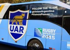 Het Rugbyunie van Argentinië Bus Royalty-vrije Stock Afbeelding