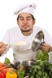 Het ruiken van de chef-kok Stock Afbeelding