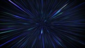 Het ruimte reizen met hyperspacesprong op melkwegachtergrond royalty-vrije illustratie