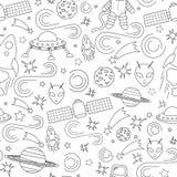 Het ruimtepatroon van het lijnpictogram Stock Foto's